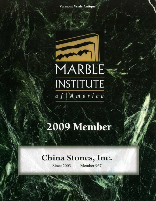 Member of Marble Institute of America (MIA)